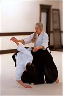 Chief Instructor Raso Hultgren practicing Aikido